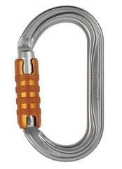 Karabina PETZL OK Triact-Lock - stříbrná
