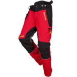 Protipořezové kalhoty SIP PROTECTION 1SNW FOREST W-AIR red-black